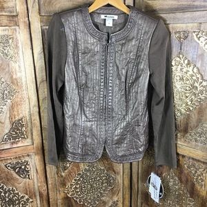 Peter Nygard leather jacket size S New